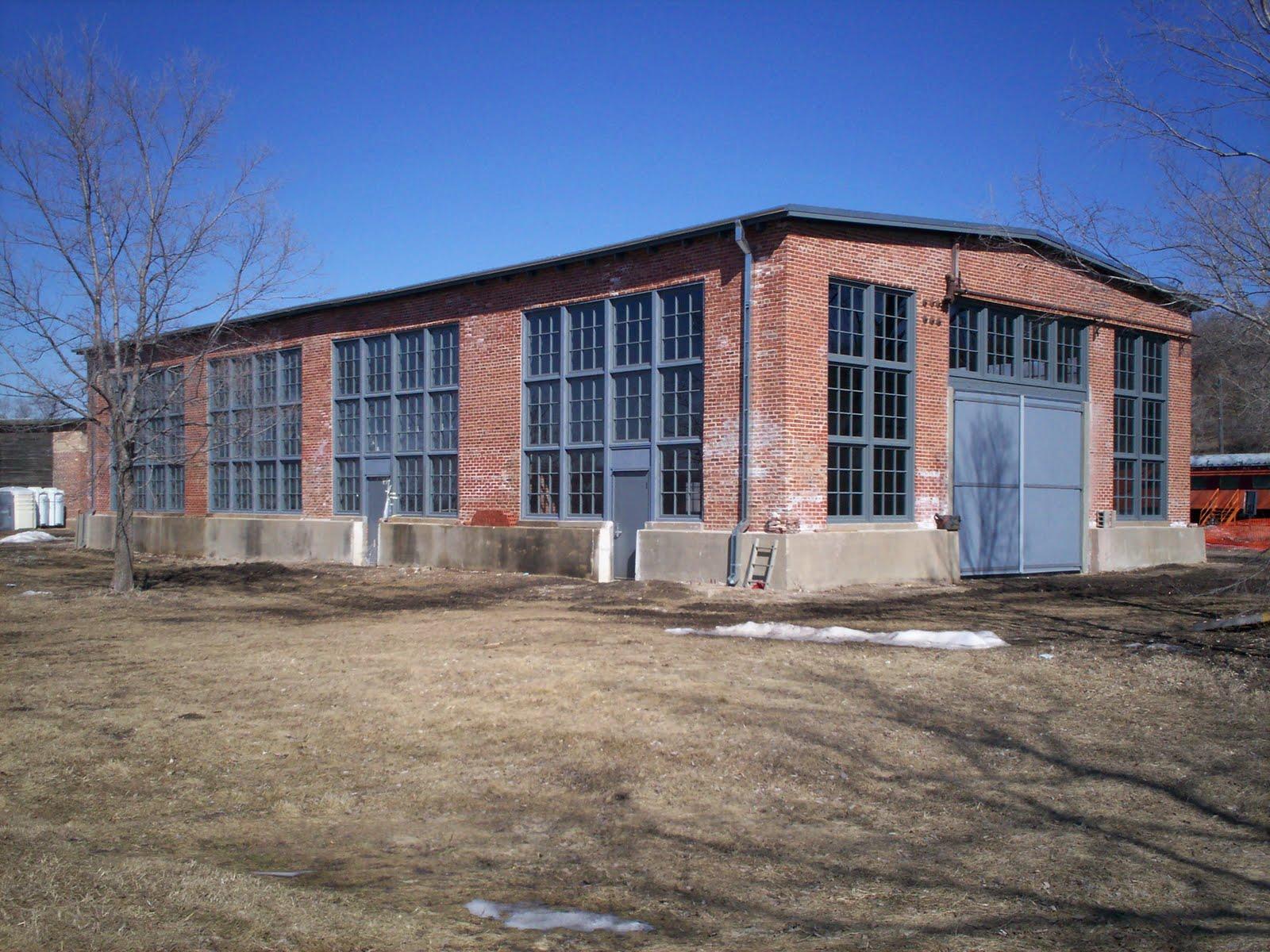 The blacksmith/machine shop in 2010 before restoration