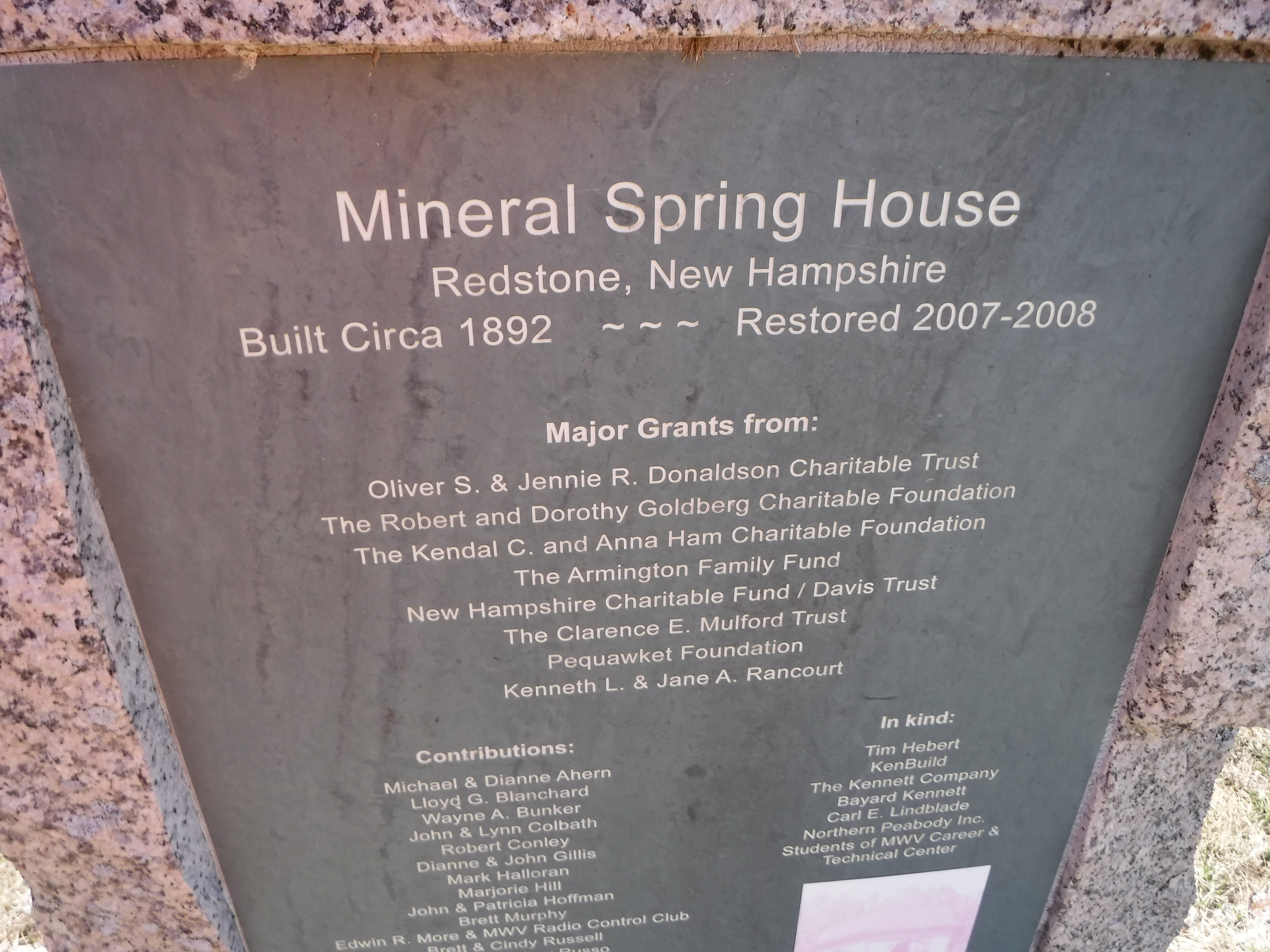Top part of plaque
