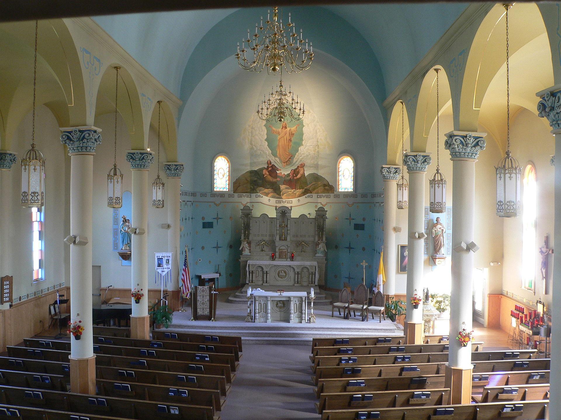 View inside the church