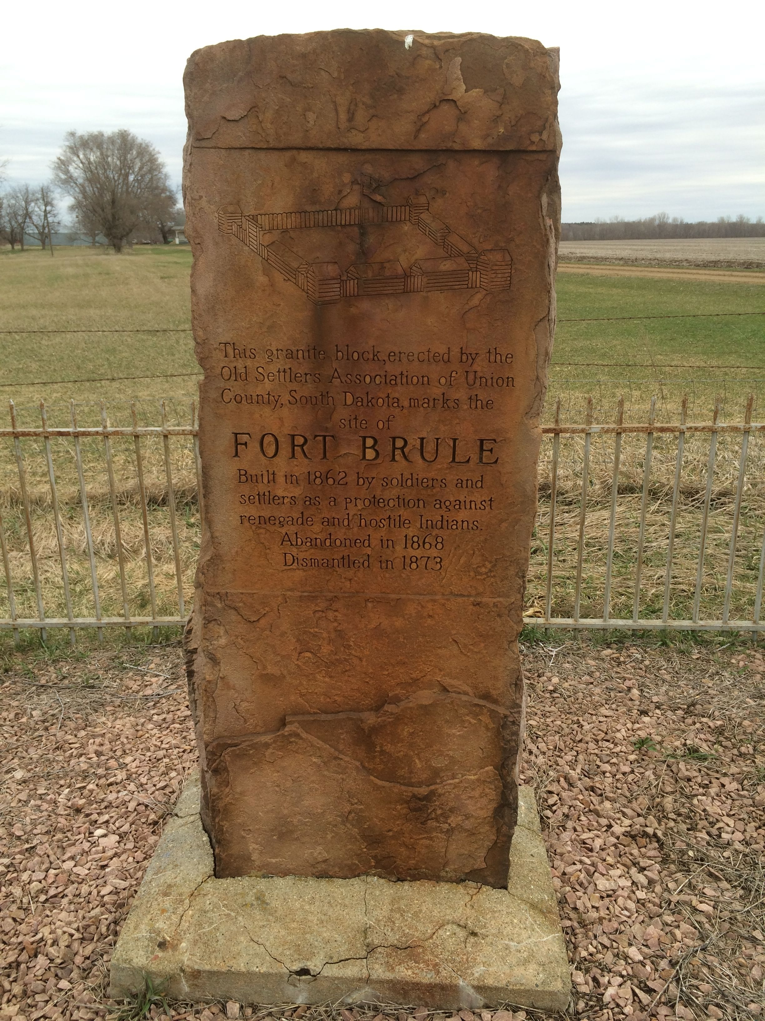The stone marker