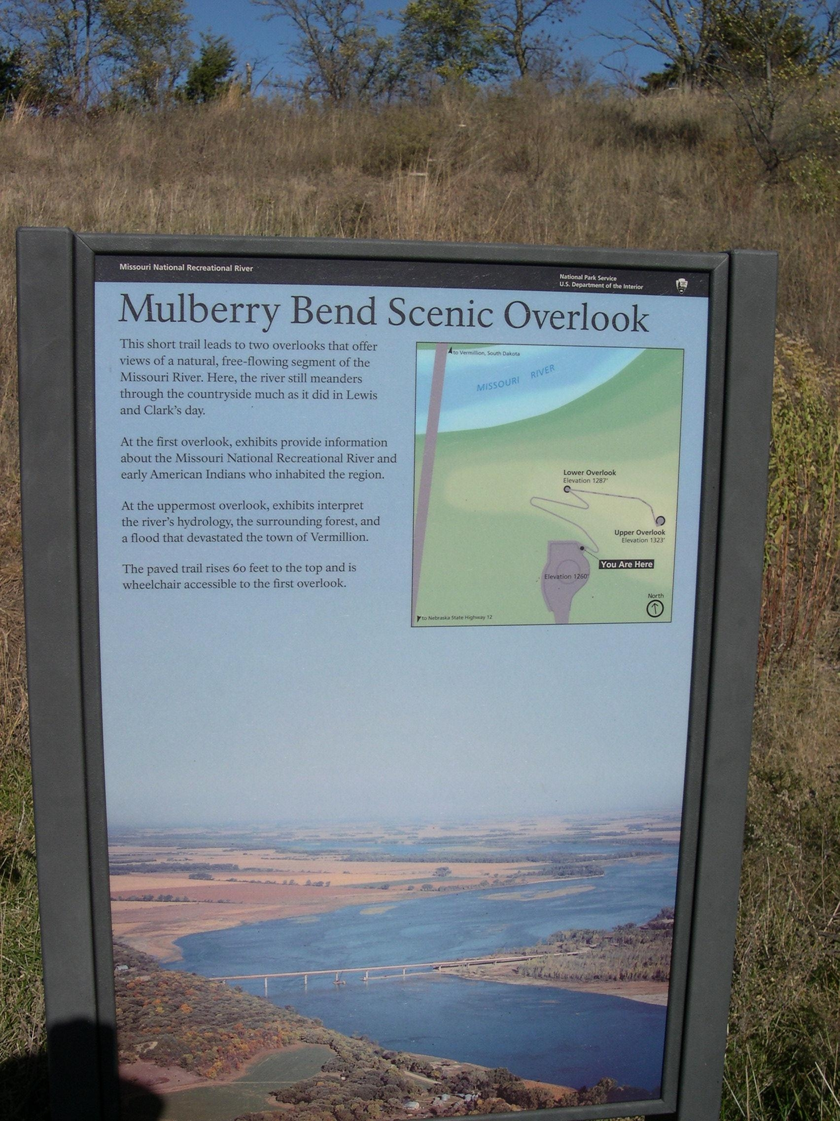 This sign is located at the beginning of the trail