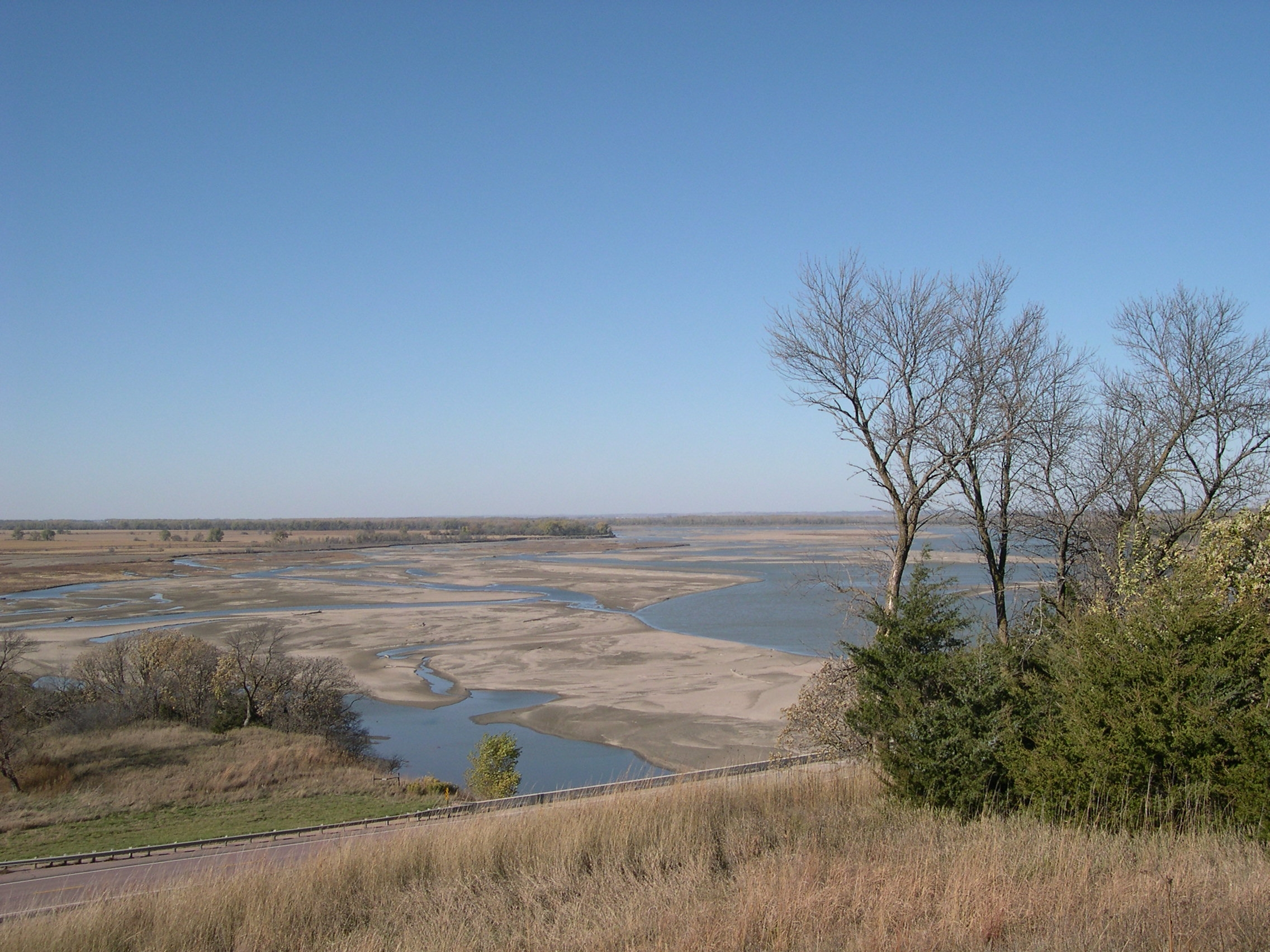View of the river from one of the overlooks