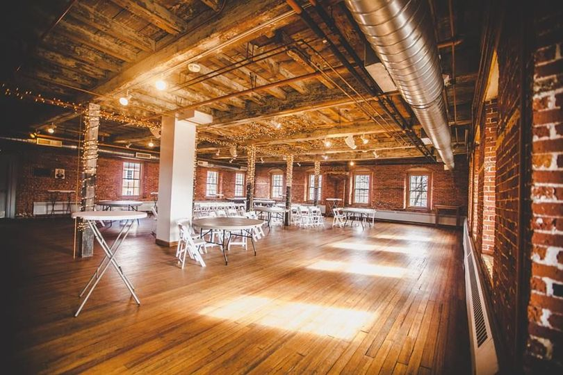 The banquet hall within the mill which is used for wedding receptions and other events.