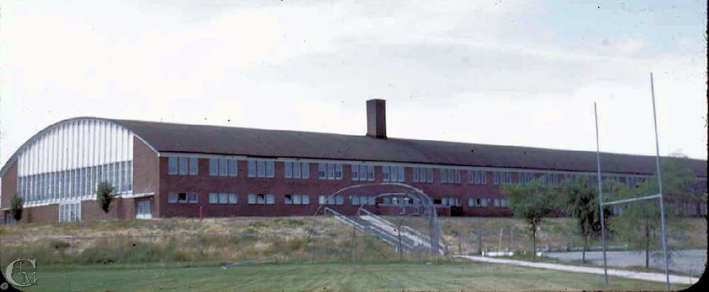Memorial Field House on the campus of EWCE 1950s.