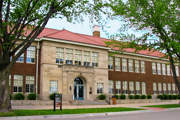 The former Monroe Elementary School, now the Brown v. Board of Education National Historic Site.