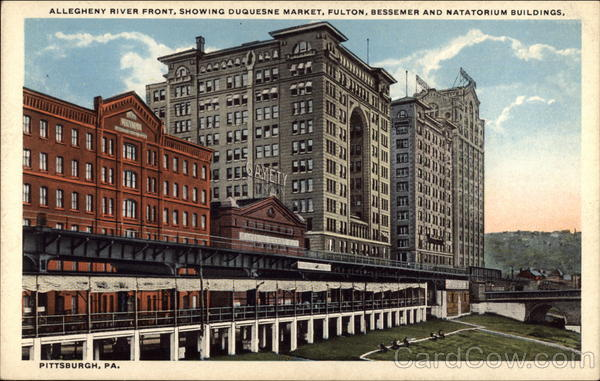 The Fulton Building and its sister, the Bessemer Building (demolished in 1964) on the right.