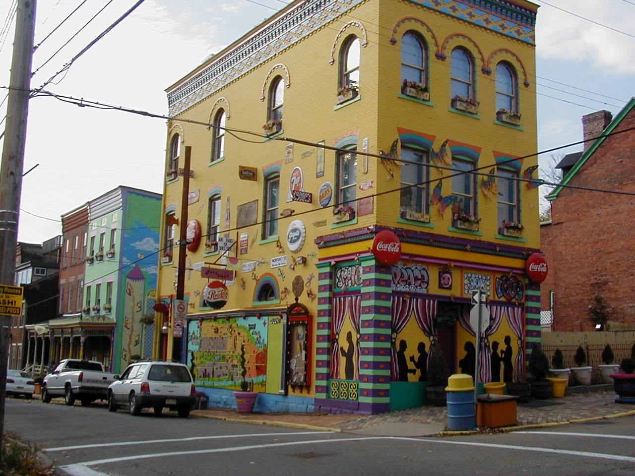 A uniquely decorated business in the district.