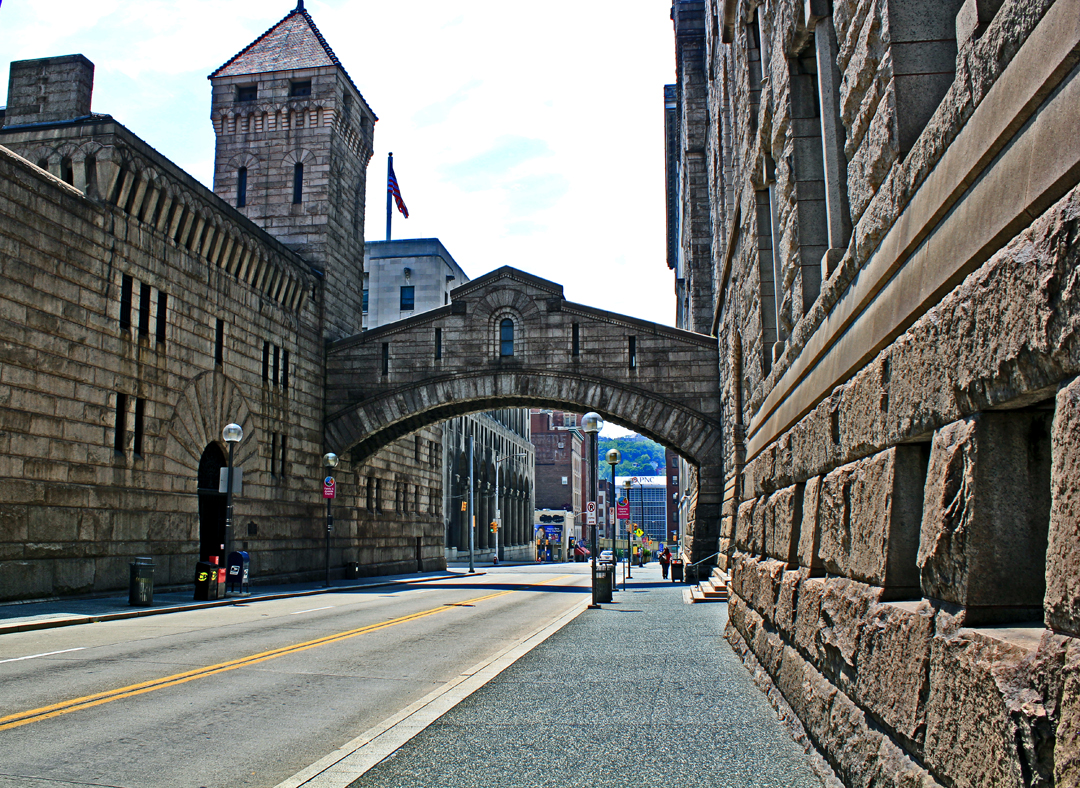 The Bridge of Sighs that connects the courthouse and Old Jail.