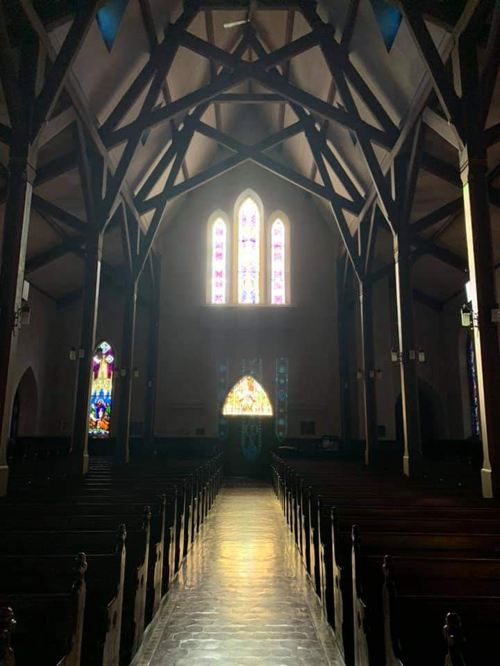 The Sanctuary of Christ Episcopal Church, facing the entrance