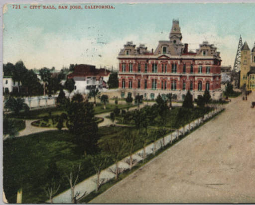 The Plaza and City Hall in 1912 (image from Stanford University)