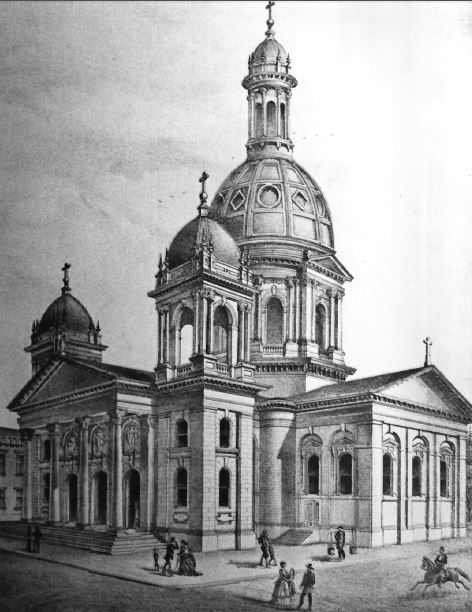 Drawing of St. Joseph's by its architect, Brian Clinch, 1875 (image from the National Register of Historic Places)