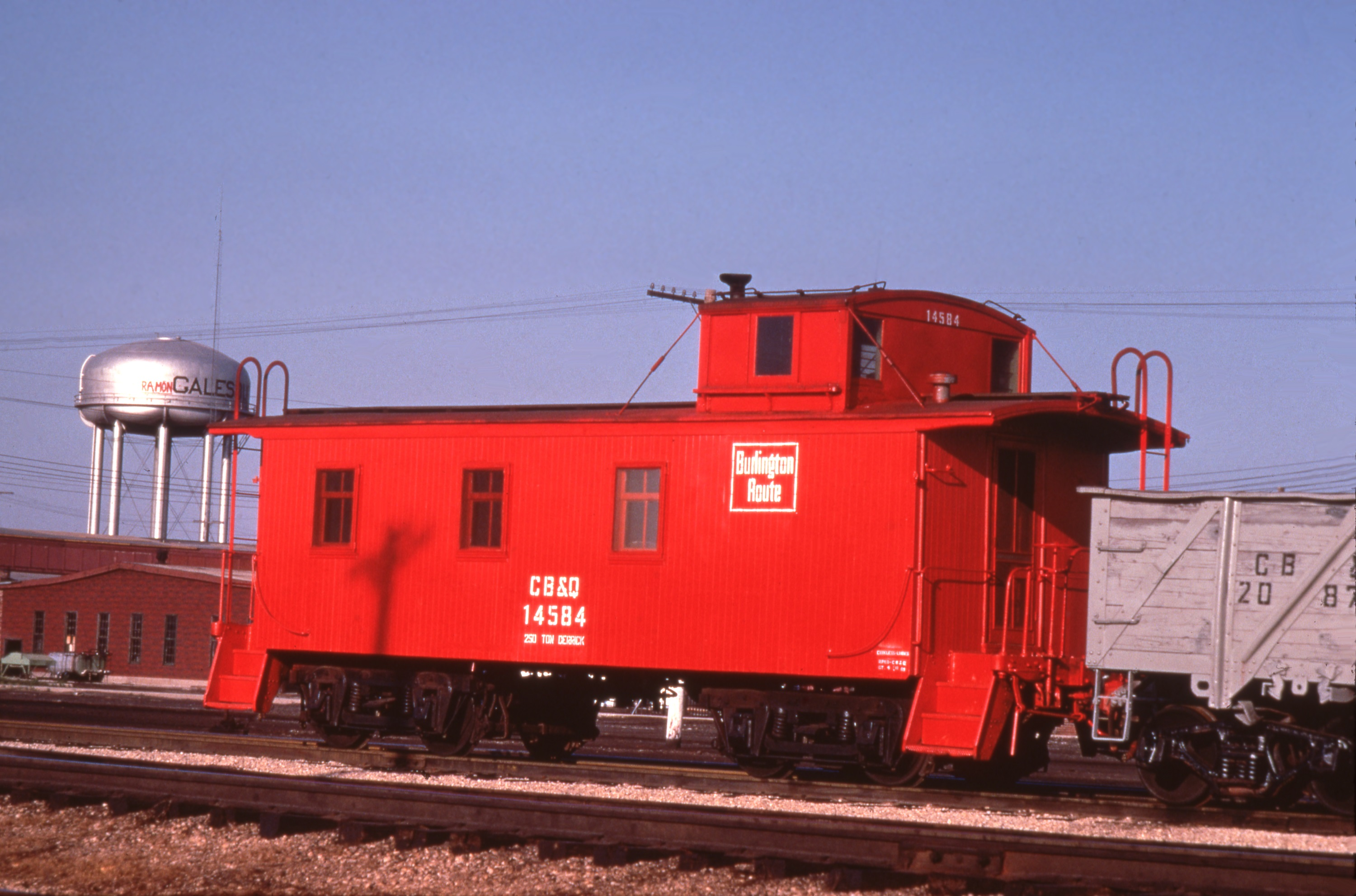 Waycar #14584 in service at Galesburg, IL (F. Hol Wagner Photo, BRHS Collection)