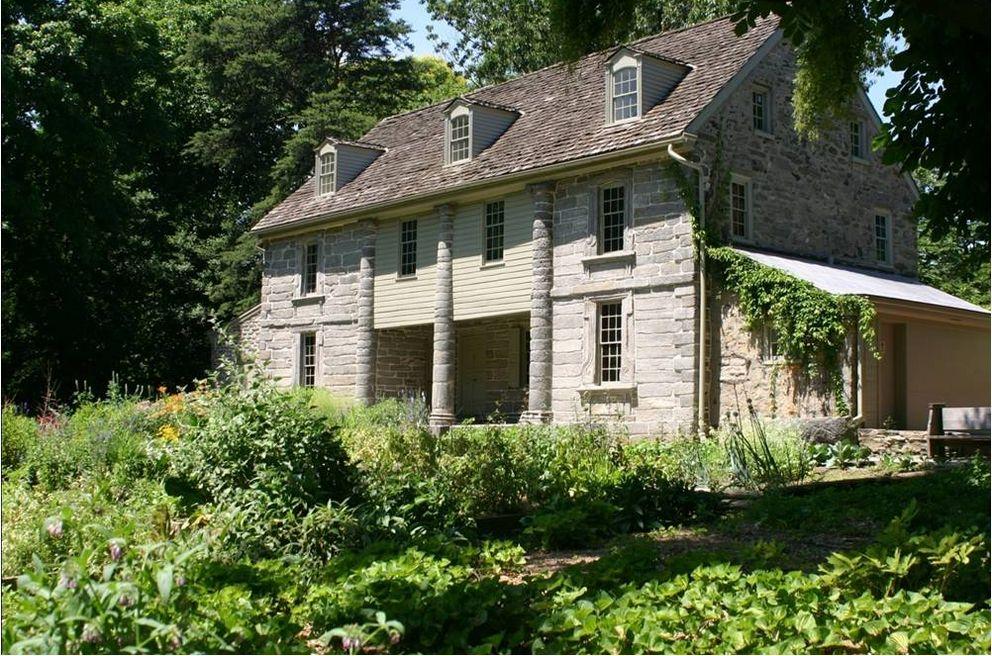 Bartram House within the bucolic Bartram's Garden.