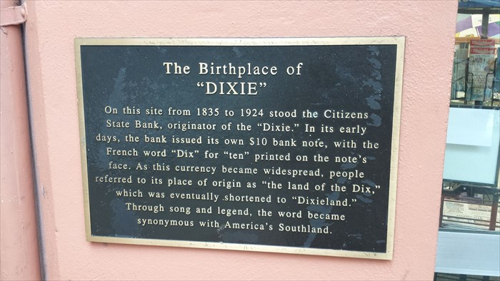 Birthplace of Dixie marker