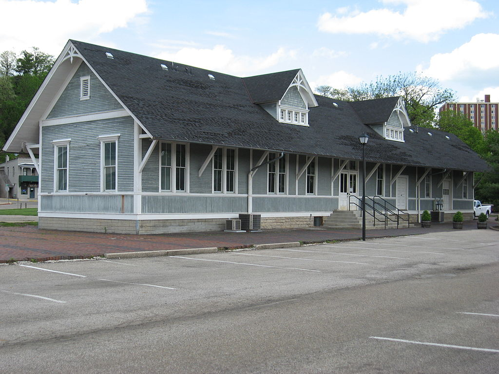 The historic depot was converted into a small apartment complex following the end of passenger rail service.