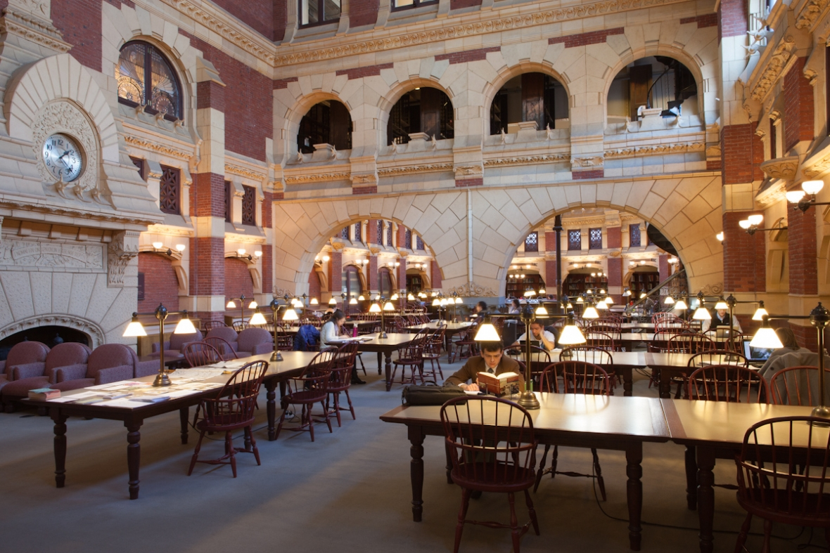 The Fisher's main reading room.