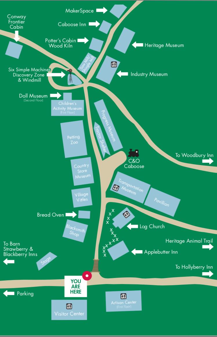 Visitors' Map.