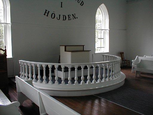 The church's restored altar
