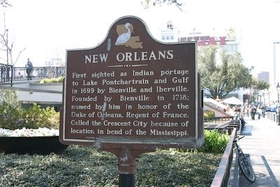 The New Orleans marker.  Photo by: R. E. Smith