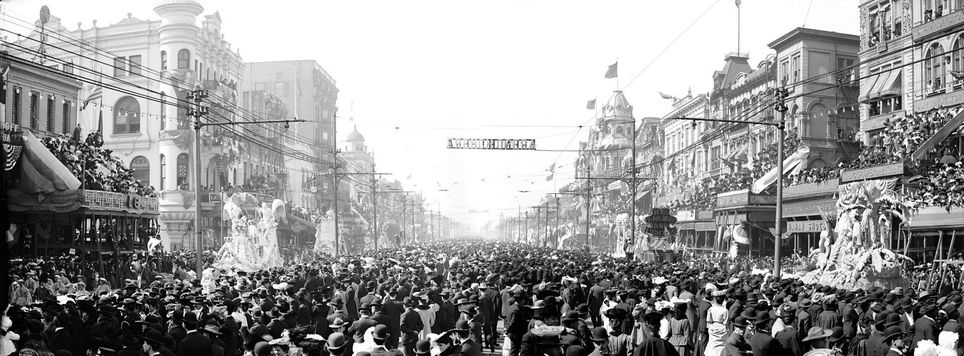 Mardi Gras in 1907