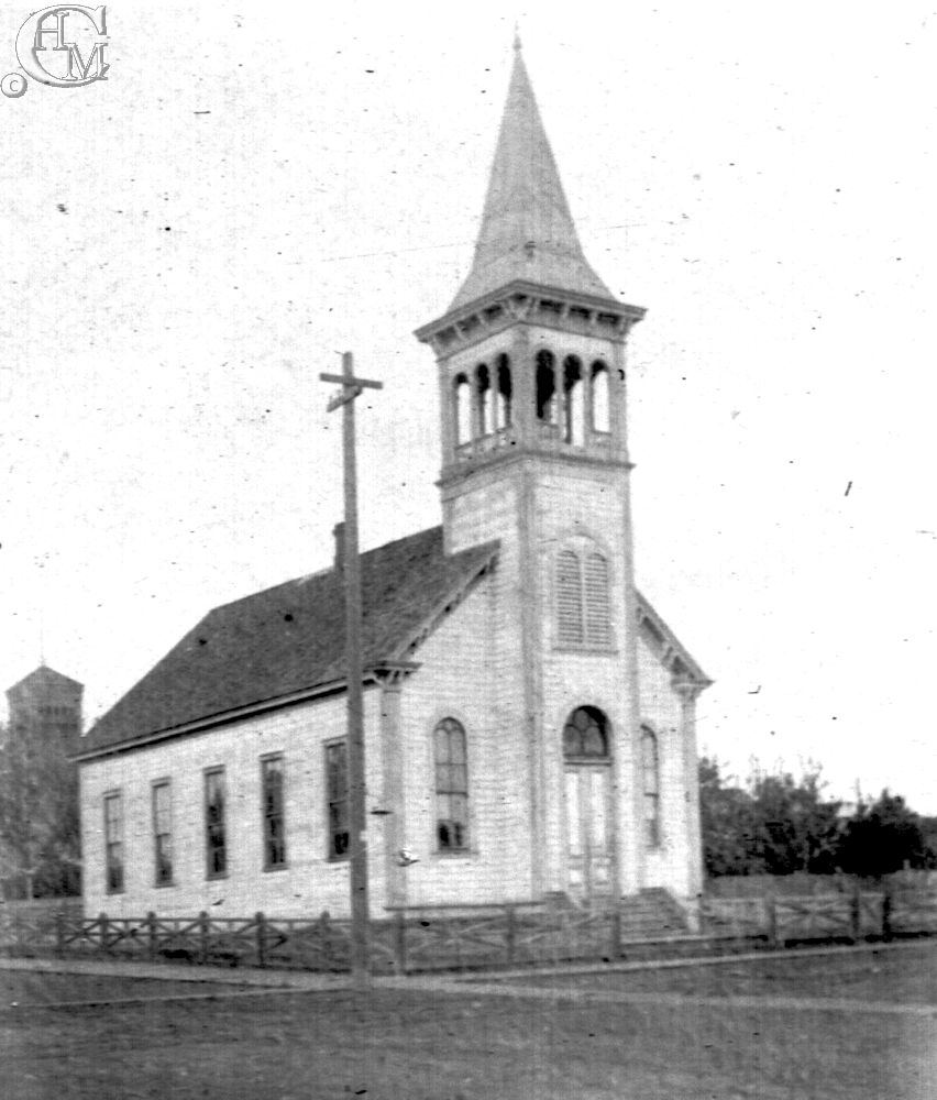 First Congregational Church at the corner of F and 4th streets, about 1890.