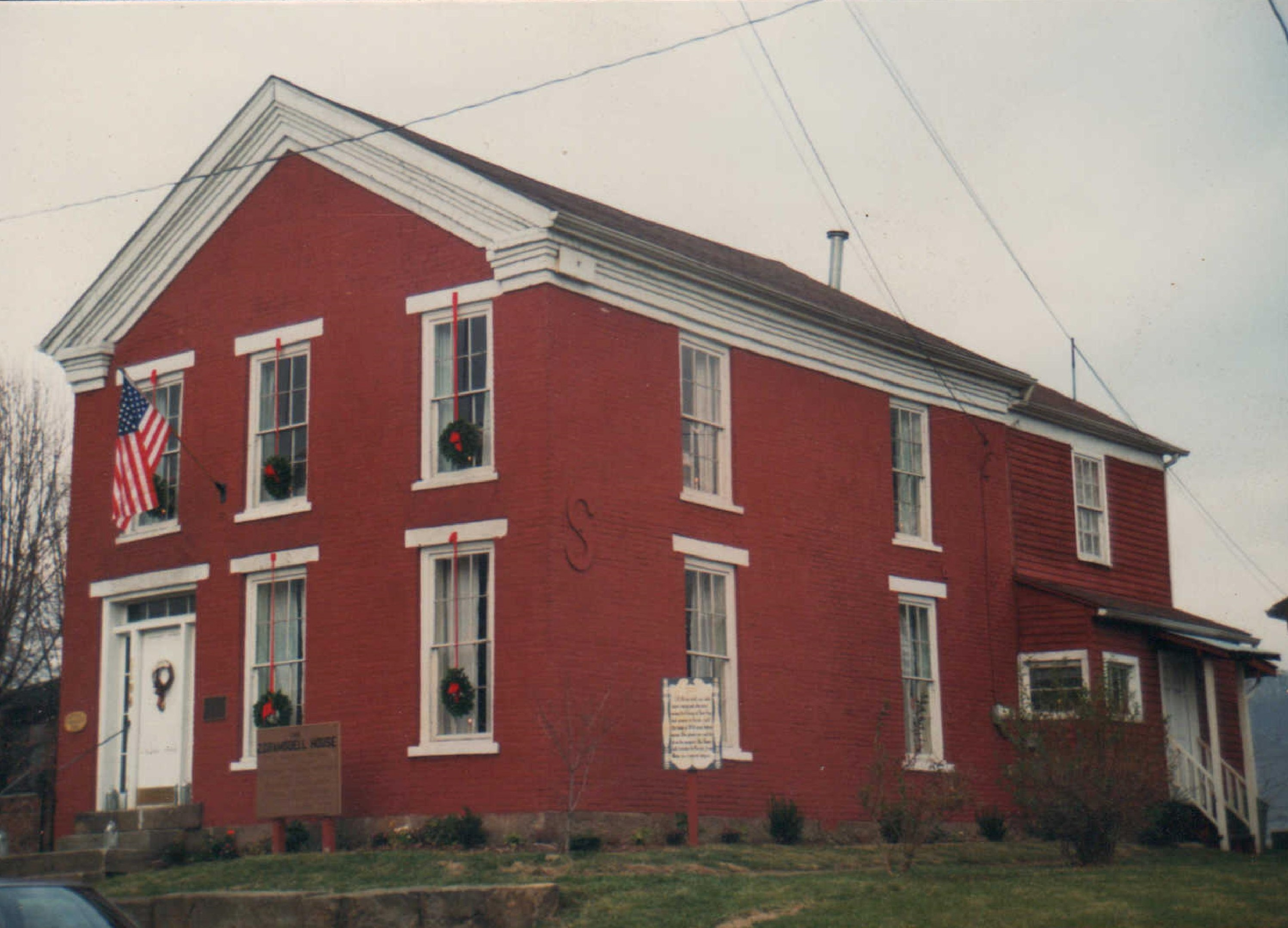 The house sometime after its initial restoration in the 1980s.