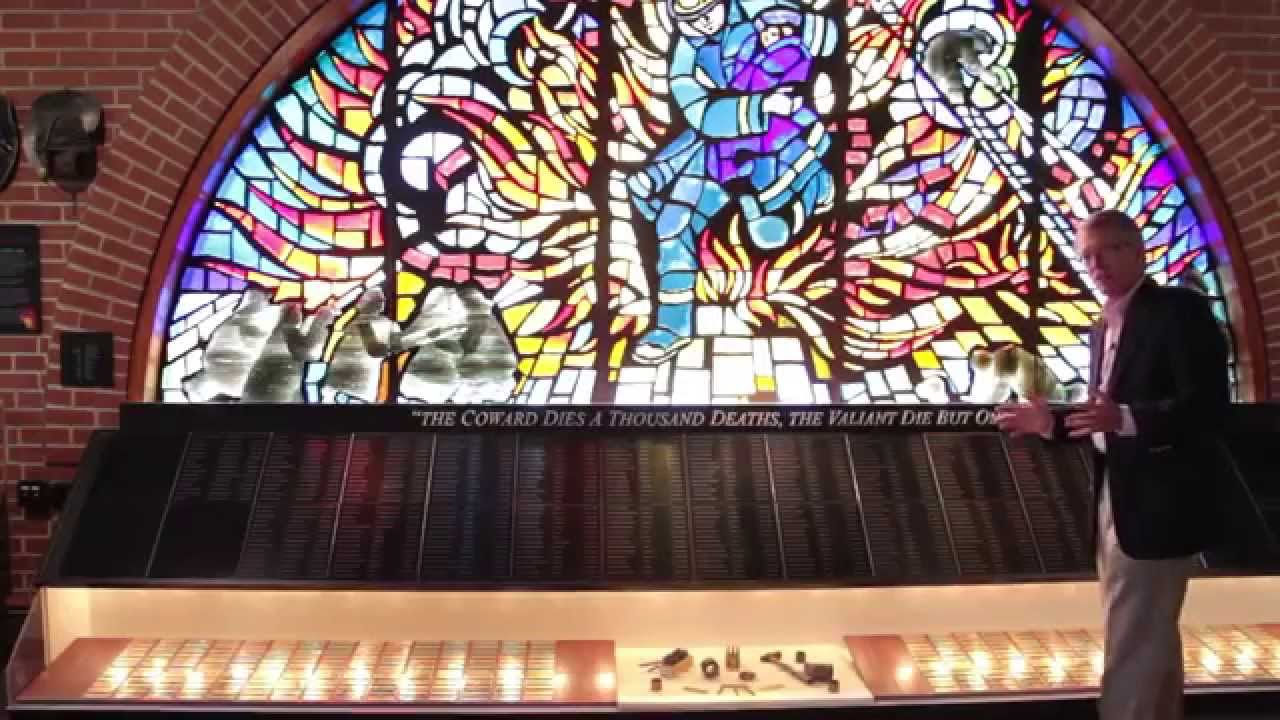 The museum's memorial to fallen firefighters.