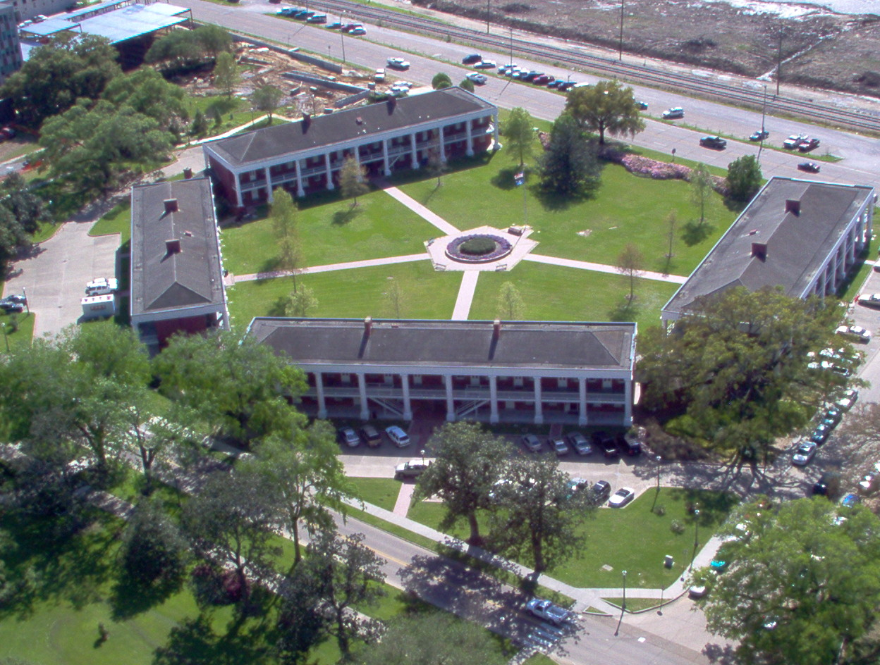 Aerial view of the Pentagon Barracks
