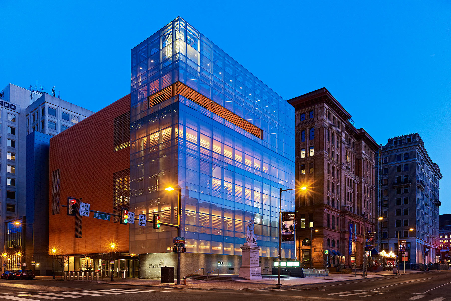 The Lyn and George Ross Building that is home to The National Museum of American Jewish History.  It opened its doors on Philadelphia's Independence Mall in 2010.