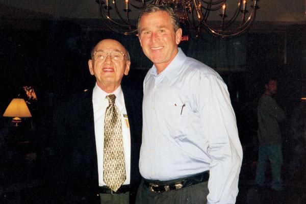 Jim Tweel with President George W. Bush