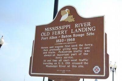 The Mississippi River Old Ferry Landing marker