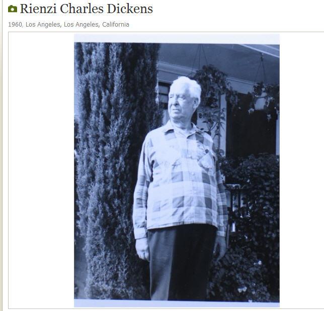 Rienzi DIckens in 1960 in Long Beach, CA. Courtesy Margaret Perham