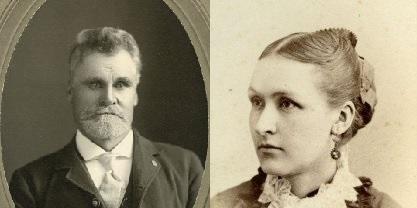 1885 photos of William and Ida Dickens