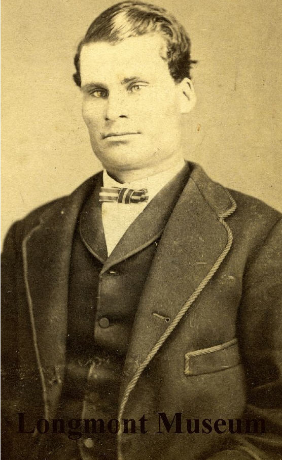William Dickens as a younger man. Courtesy of Longmont Museum