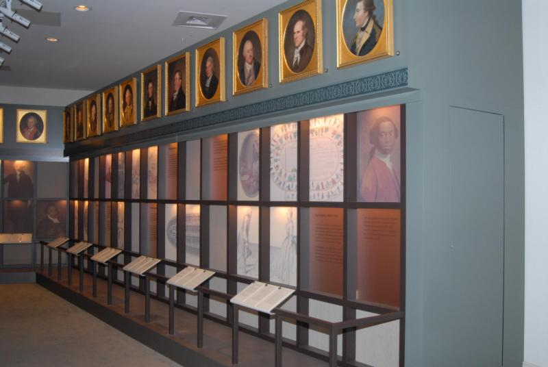 The building is now home to a portrait art gallery that features such prominent early Americans as Patrick Henry and Zebulon Pike.