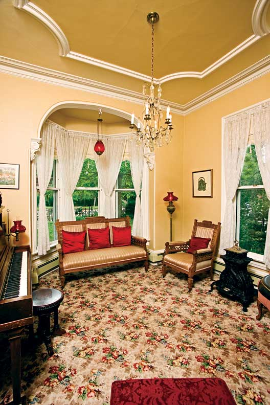 The parlor, or living room, of the house