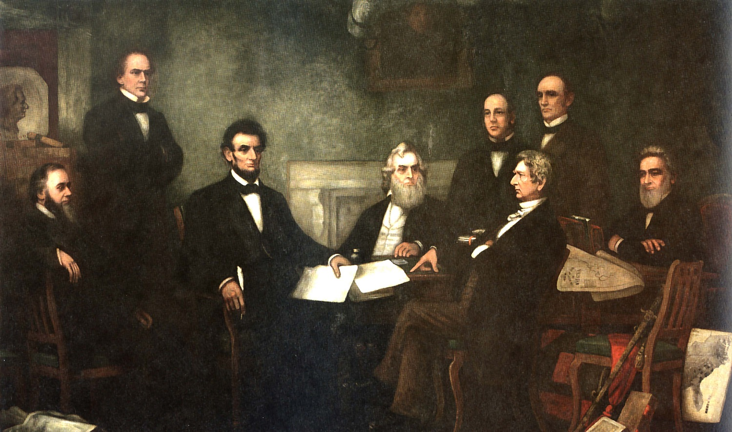 First Reading of the Emancipation Proclamation by President Lincoln
