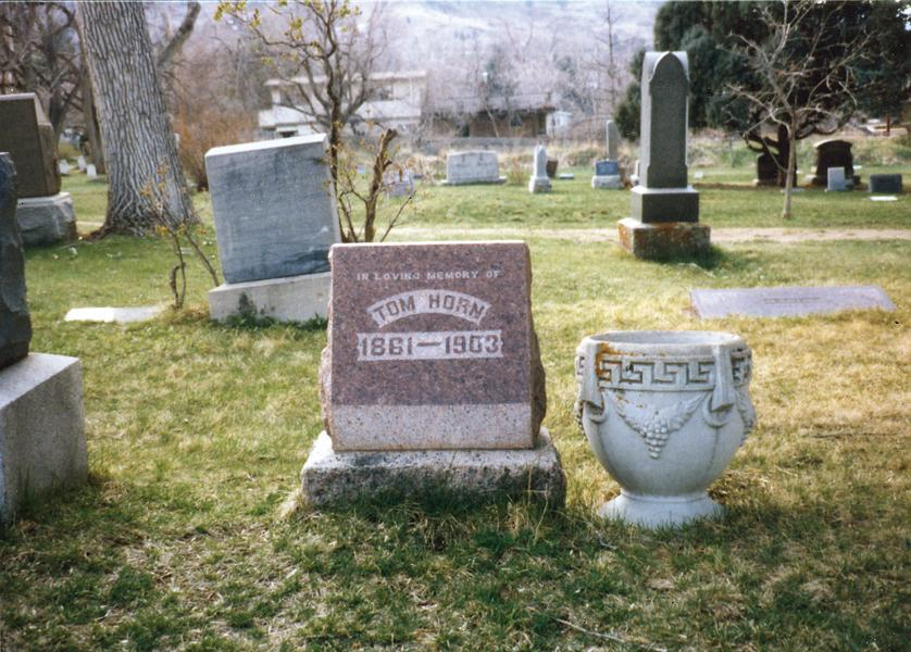 Tom Horn's gravesite within cemetery