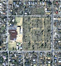 Satellite image of cemetery