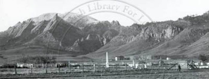 Late 1880s photo of cemetery. Courtesy of the University library at the University of Colorado