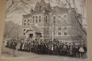 Highland school, students and faculty just after it opened in 1892. Courtesy of the Highland City Club