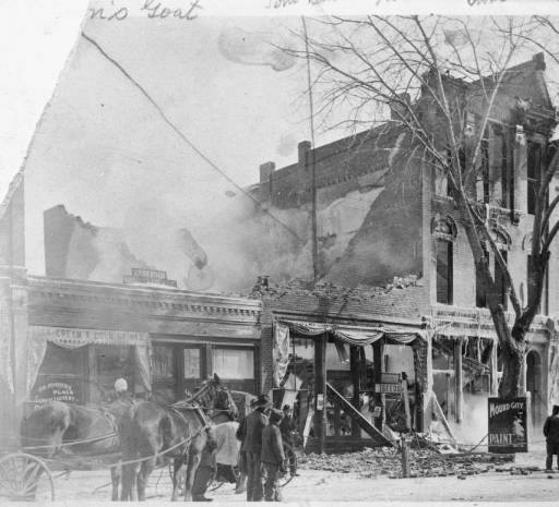 Fire crew manage to save the opera house during the tragic 1905 fire. Courtesy of the Denver Public Library