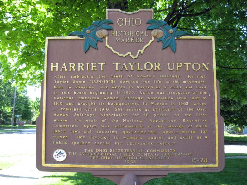Harriet Taylor Upton Ohio Historical Marker