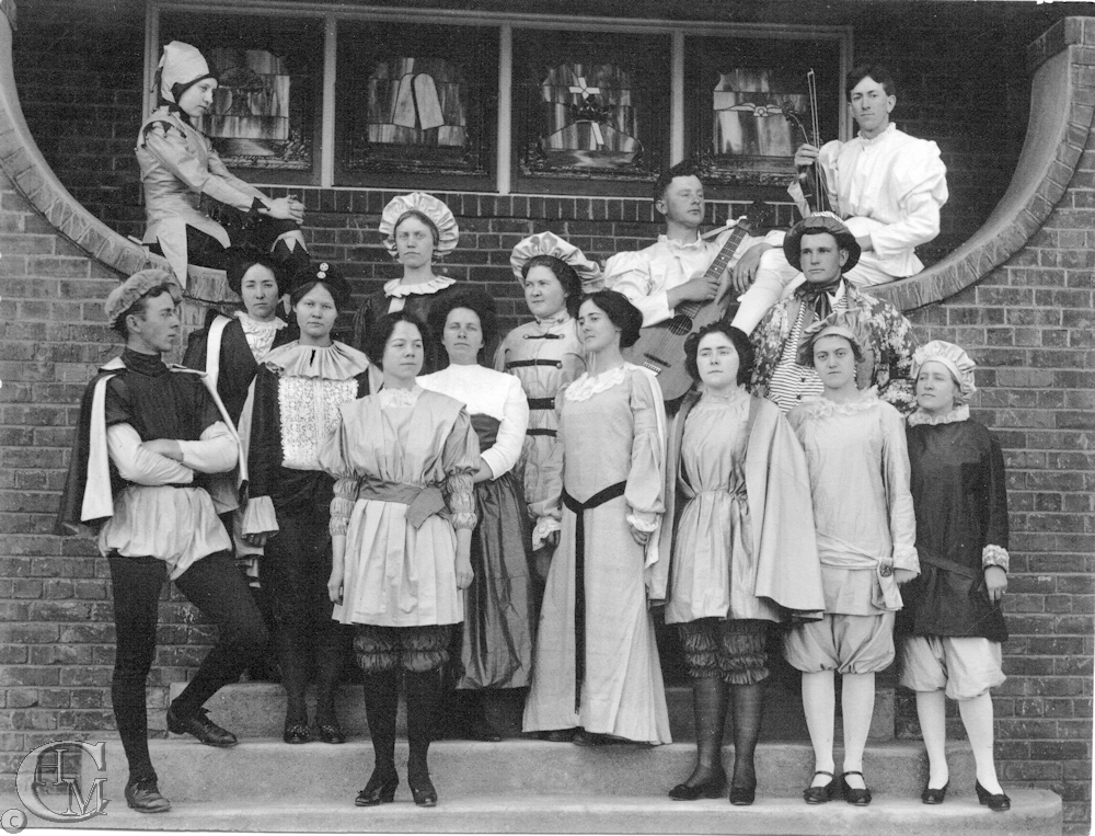 Normal School drama productions were held in the church, as well as some classes from 1912 to 1915.
