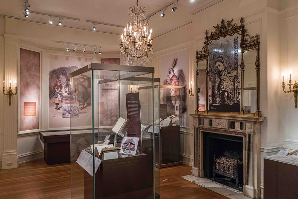 "The Rosenbach's Lewis Carroll exhibition that included wall murals, a first edition of ""Alice's Adventures in Wonderland, and numerous personal letters written by Carroll."