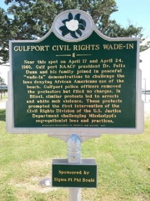 The marker is located along Beach Boulevard behind the Island View Casino