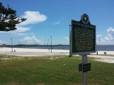 The beach near the marker where the wade-in occurred
