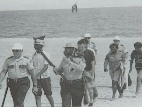 A neighboring demonstration on the beaches of Biloxi led to the arrest of seventy-one civil rights protesters.