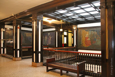 View of murals on tenth floor, Fine Arts Building (image courtesy of Chicago Architecture blog).