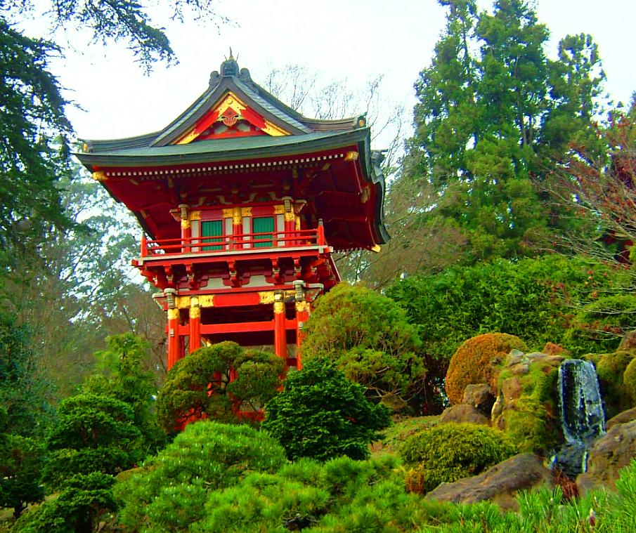 In the Japanese Friendship Garden (image from Greatest Garden)